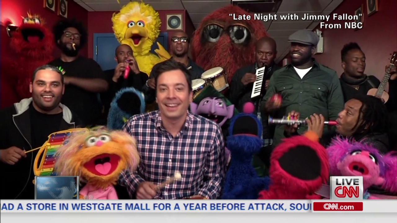 Sesame Street Jimmy Fallon Jam Session Cnn Video