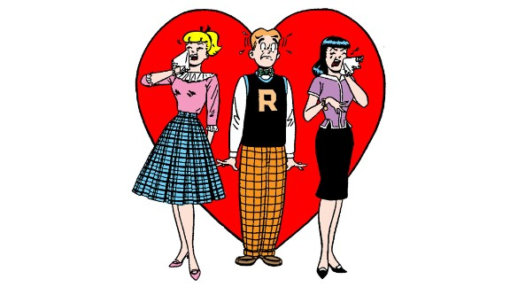 Of course, things could get tense, even in Riverdale, as Archie bumbled through his love troubles with the kind blonde next door, Betty Cooper, who couldn