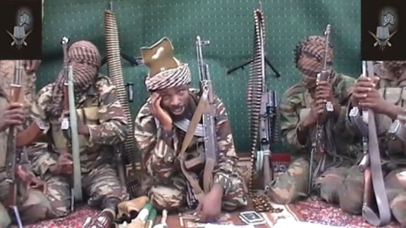 A video of Abubakar Shekau, who claims to be the leader of the Nigerian Islamist extremist group Boko Haram, is shown in September 2013. Boko Haram is an Islamist militant group waging a campaign of violence in northern Nigeria. The group
