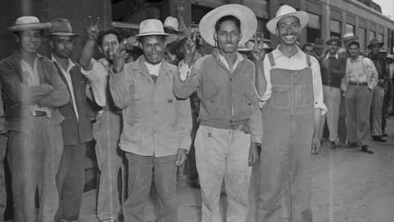 Between 1942 and 1964, agricultural workers came north from Mexico under the Bracero Program.