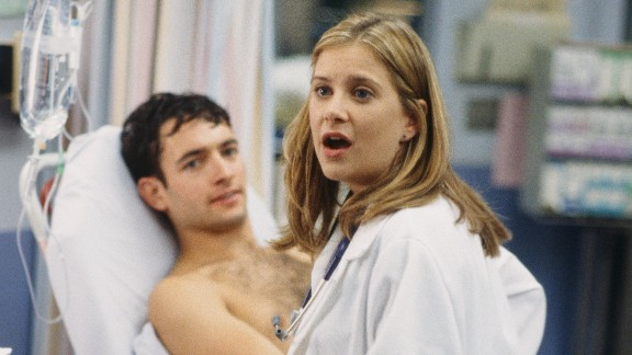 """The character of medical student Lucy Knight (played by Kellie Martin) was stabbed to death by a mentally disturbed patient on """"ER."""""""