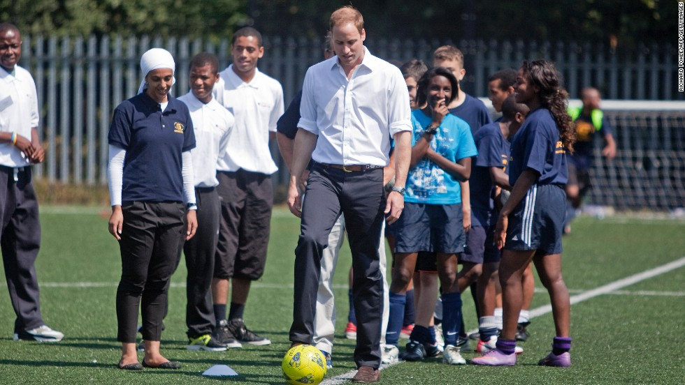 Prince William is a huge soccer fan who arranged for a special game to be played at Buckingham Palace as part of the English Football Association's 150th birthday.