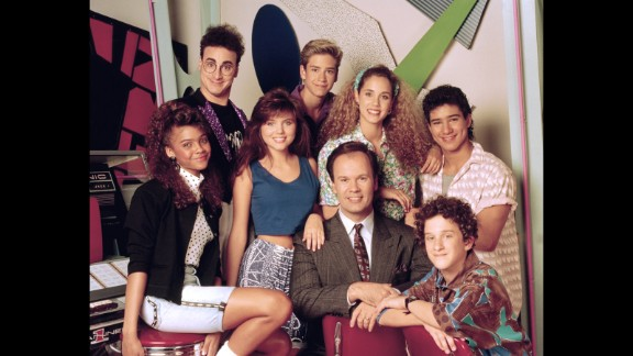 "Although ""Saved By the Bell"" got its start in 1989, the half-hour comedy helped define a generation and is still popular in syndication. We don't care how many kids Mark-Paul Gosselaar has or how many hosting gigs Mario Lopez picks up, they're both eternally Zack and Slater to us. (Same goes for you, Elizabeth ""I'm so excited!"" Berkley.)"