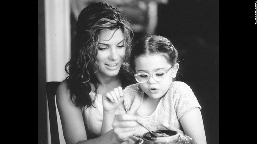 "Bullock plays a single mom embarking on a new romance in the 1998 movie ""Hope Floats."""