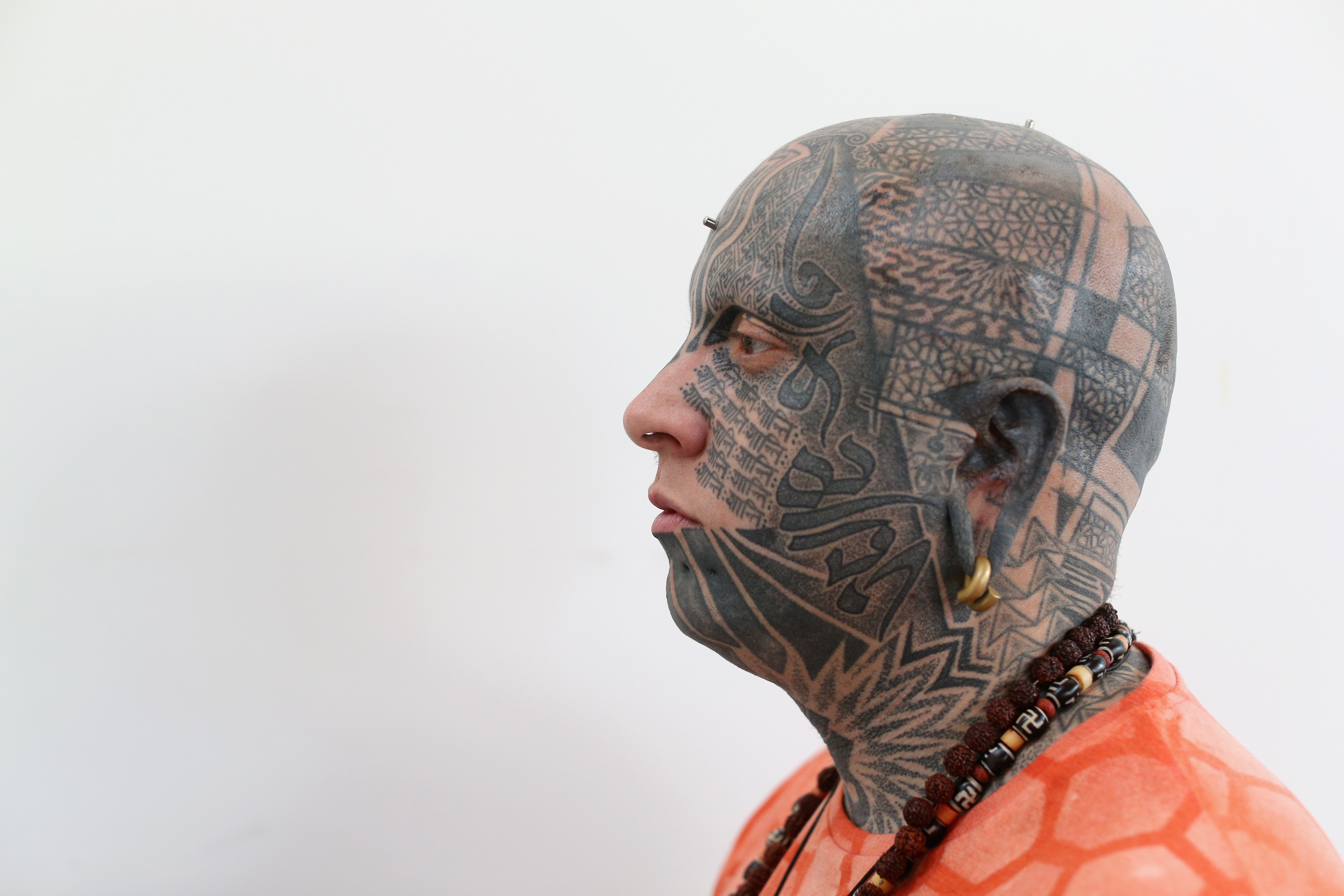 Retro Themes Rule At London Tattoo Show Cnn Travel Blank Human Body Diagram