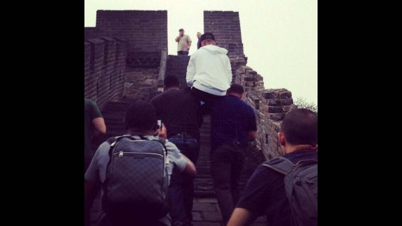 Was he saving his energy for his fans or just courting more controversy? In October 2013, the day after a concert in Beijing, Bieber was snapped letting his bodyguards carry him up the stairs at the Great Wall of China.