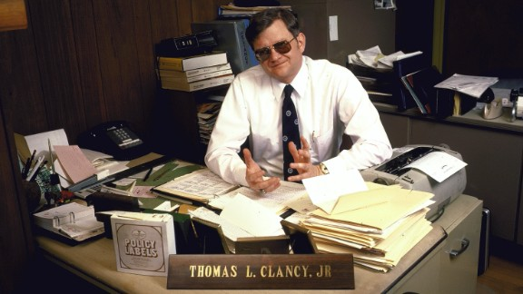 """Clancy poses for a photo in 1985. His 1984 novel """"The Hunt for Red October"""" brought Clancy into the spotlight."""