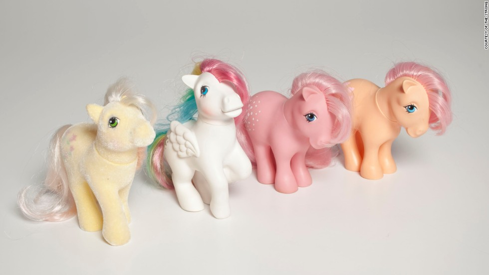 My Little Pony was first introduced in the 1980s, then re-emerged in 2003. At their peak, they outsold Barbie, the National Toy Hall of Fame reports.