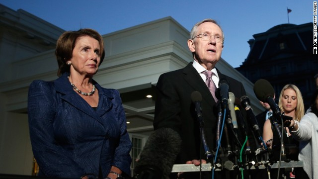 House Democratic Leader Nancy Pelosi and Senate Democratic Leader Harry Reid