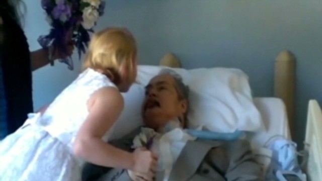 Dying father gives wedding blessing