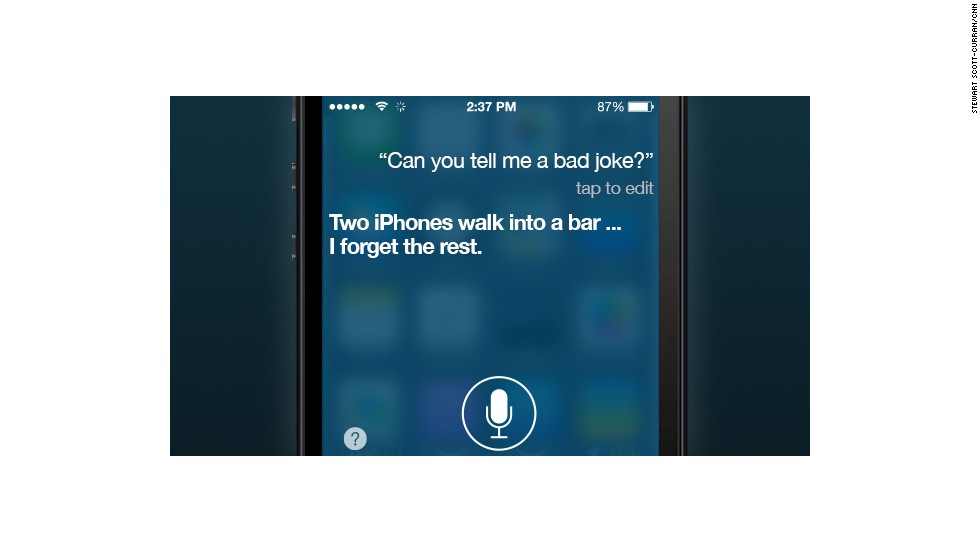 The developers at Apple have baked some wit into Siri's otherwise robotic responses. Here are 15 of her most clever, and cringeworthy, jokes.