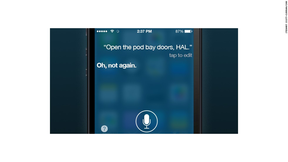 People have become so familiar with Siri that it participates in jokes.