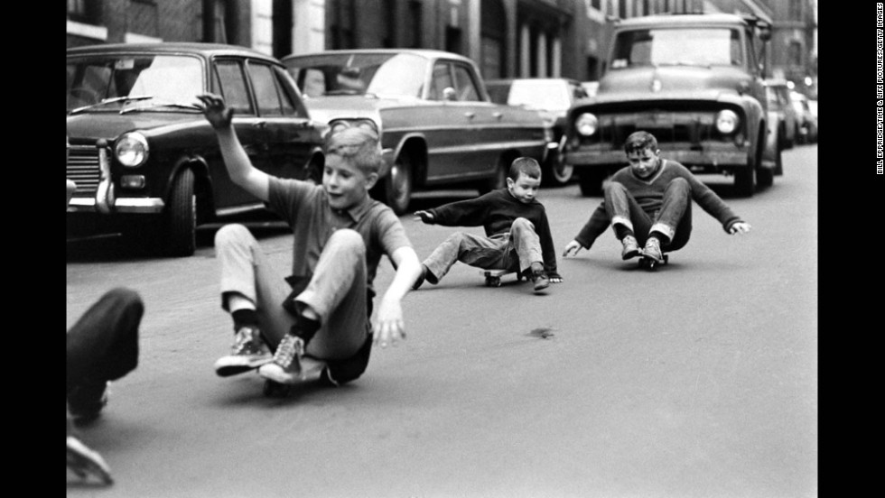 Skateboarding in New York City, 1965.