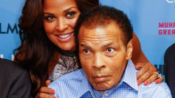 Laila Ali and Muhammad Ali appear at HBO Films and the Muhammad Ali Center to co-host the U.S. Premiere of 'Muhammad Ali's Greatest Fight' .