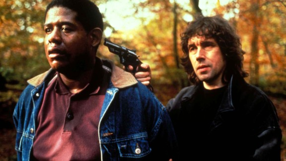 """In """"The Crying Game"""" (1992), an IRA soldier (Stephen Rea, right, with Forest Whitaker) falls in love with a prisoner's girlfriend. Or is that the prisoner's boyfriend? Jaye Davidson was nominated for an Oscar for best supporting actor for his gender-bending performance."""