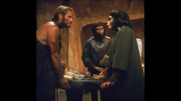 """Five years earlier, Heston revealed another of the movies' great twists at the end of """"Planet of the Apes"""" (1968). Believing he's traveled to an alien world populated by talking apes, it's only as the movie concludes -- with the Statue of Liberty emerging from a beach -- that he realizes he's on a future Earth. """"You maniacs!"""" he screams. """"You blew it up!"""" Rod Serling, of """"Twilight Zone"""" fame, wrote the screenplay."""
