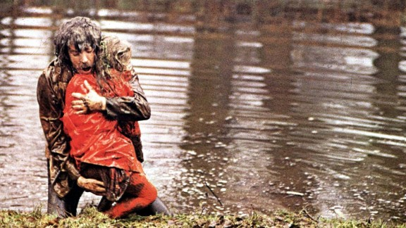 """In 1973's """"Don't Look Now,"""" a troubled couple (Donald Sutherland and Julie Christie) travel to Venice to escape the grief caused by the death of their daughter. Sutherland's character has visions of seeing his child in a red coat, but it's actually a serial killer -- and Sutherland's visions are actually about himself. The haunting film was directed by Nicolas Roeg."""