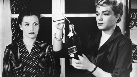 """The 1955 French film """"Diabolique"""" remains a model for the psychological thriller. A wife and a mistress decide to murder their shared lover, a brutal schoolmaster. But when his body disappears, who's really controlling the plot? Turns out the real target was the wife. But the movie lets the audience wonder if she, too, is really dead."""