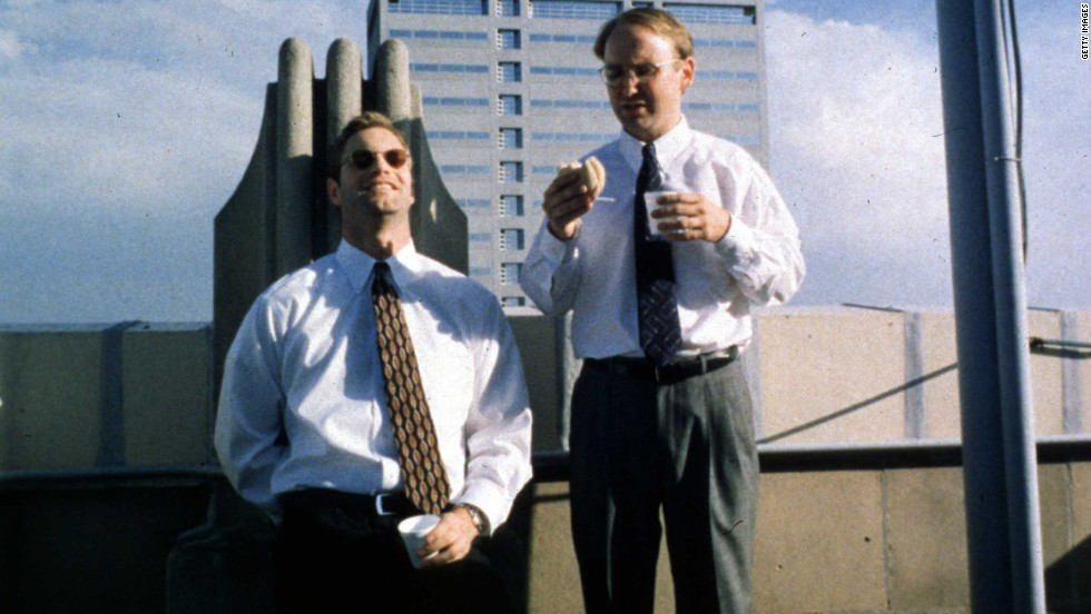"Chad and Howard (Aaron Eckhart, left, and Matt Malloy) come up with a plan to break the heart of a deaf woman by dating her and then splitting with her in<strong> </strong>""In the Company of Men"" (1997). But it's Howard who ends up broken, blindsided by Chad's coldheartedness. Neil LaBute wrote and directed."
