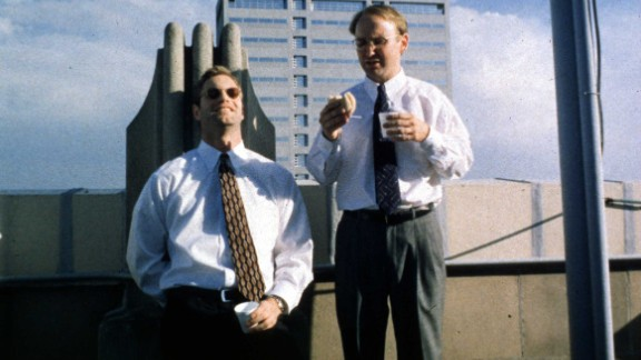 """Chad and Howard (Aaron Eckhart, left, and Matt Malloy) come up with a plan to break the heart of a deaf woman by dating her and then splitting with her in """"In the Company of Men"""" (1997). But it's Howard who ends up broken, blindsided by Chad's coldheartedness. Neil LaBute wrote and directed."""