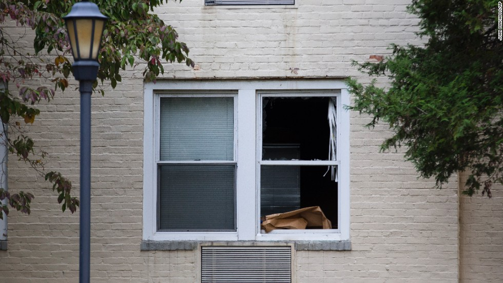 An apartment window was broken when police used the entry point to secure the space on Friday. Police also found a medication for schizophrenia and an antidepressant inside her apartment, said a law enforcement source. Many questions remain open surrounding the case. Authorities have not officially linked the incident to mental illness or any other factor.