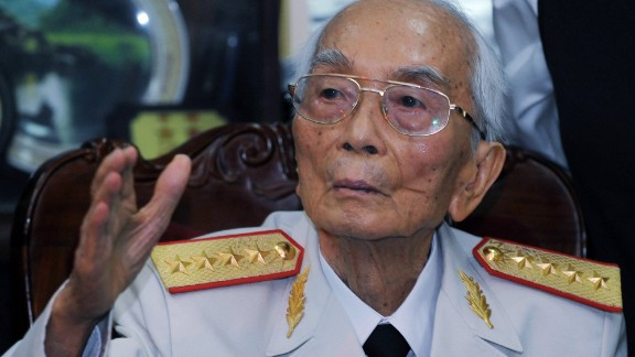 Gen. Vo Nguyen Giap of the Vietnam People's Army, a man credited with major victories against the French and the American military, died on October 4. He was 102.