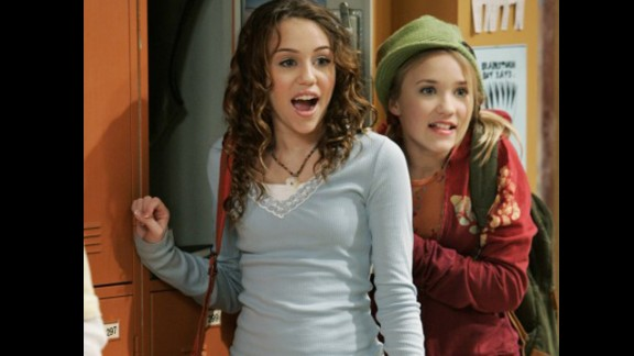 "Cyrus starred with Emily Osmand in an episode of ""Hannah Montana"" in June 2007."
