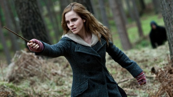 "Emma Watson's Hermione Granger in the ""Harry Potter"" movies always knew just the right spell to get out of any situation."
