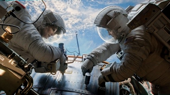 """Sandra Bullock and George Clooney star in one of the AFI's 10 best films of 2013, """"Gravity."""""""
