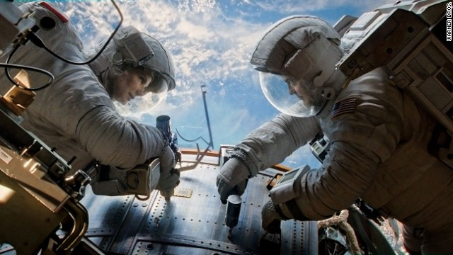 "Sandra Bullock and George Clooney star in one of the AFI's 10 best films of 2013, ""Gravity."""