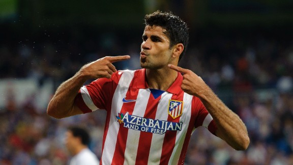 Atletico Madrid, city rivals to Real, are currently second in the La Liga table behind Barcelona -- largely thanks to the goalscoring exploits of Diego Costa. They are another new entry to round off the list but trail way behind Real in terms of revenue, on the comparatively modest figure of $162.5 million.