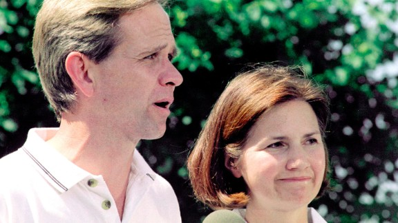 Smart's parents, Ed and Lois, talk to reporters about her kidnapping in June 2002 in Salt Lake City, Utah. Smart was taken from her bedroom in the middle of the night on June 5, 2002, and held captive for nine months.