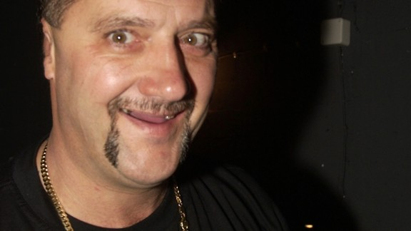 """Ex-criminal Mark """"Chopper"""" Read pictured at the Enmore Theatre in Sydney, Australia back in 2001."""