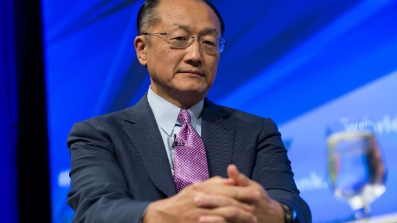 World Bank President Jim Yong Kim speaks about the economic case for climate change during a panel discussion at World Bank Headquarters in Washington, DC, October 8, 2013.