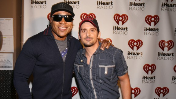 """Rapper LL Cool J, left, and country artist Brad Paisley wanted to stir dialogue with their 2013 collaboration """"Accidental Racist."""" Let"""