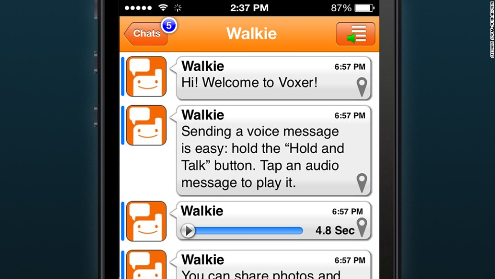 <strong>Voxer:</strong> Think walkie-talkies. This push-to-talk messaging allows kids with smart phones to share text, photos and videos with lightning speed.