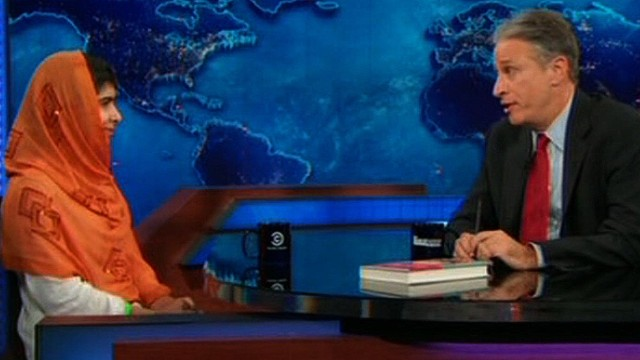 Malala interviewed on 'Daily Show'