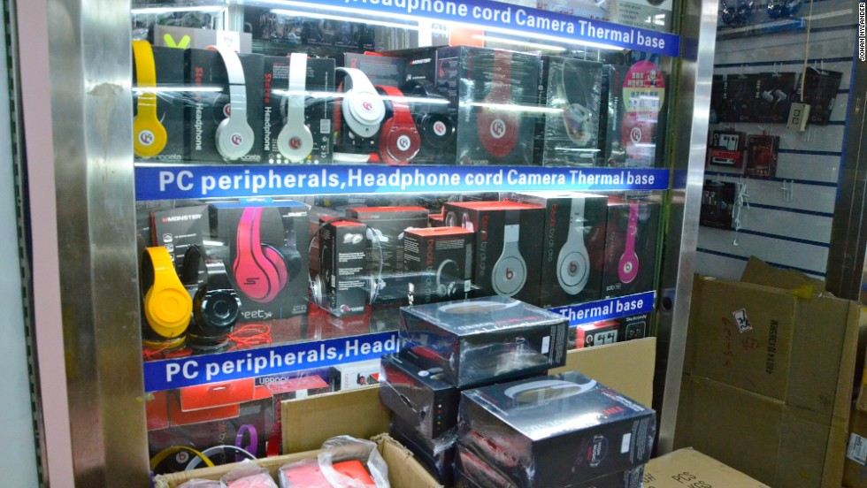 In mega-malls in the Shenzhen's Huaqiangbei commercial district -- China's most famous place for electronics and hi-tech knock-offs -- Beats by Dr Dre has become one of the most popular items.