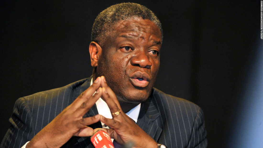 Congolese doctor Denis Mukwege who mends women