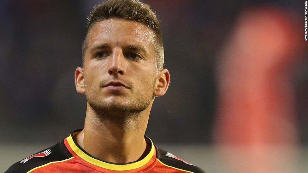 "Napoli forward Dries Mertens (left) is one of the Belgium players to have worked under ""brain coach"" Michel Bruyninckx in the early stages of his career. The 26-year-old earned a move to Italy after impressing with Dutch club PSV Eindhoven last season."