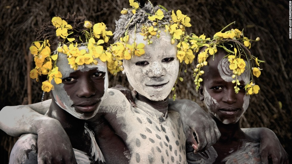British photographer Jimmy Nelson spent three years traveling to remote areas of the world to document the lives of indigenous people. He visited 35 different tribes, nine of them in Africa, like the pictured Karo tribe in Ethiopia.