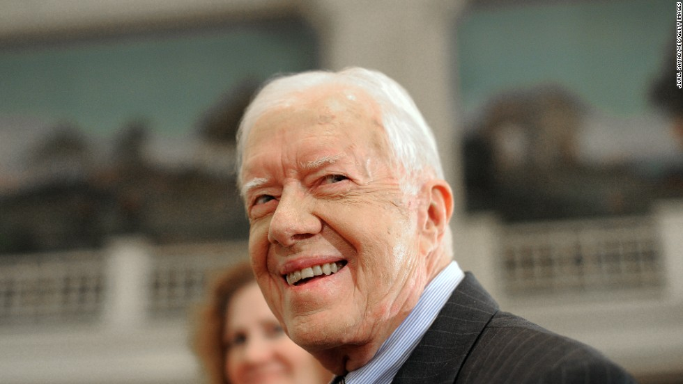 Former President Jimmy Carter won the Nobel Peace Prize in 2002.