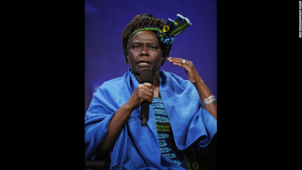 Wangari Muta Maathai, founder of the Green Belt Movement, Kenya, won the Nobel Peace Prize in 2004.