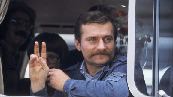 Former Polish President Lech Walesa won the Nobel Peace Prize in 1983.
