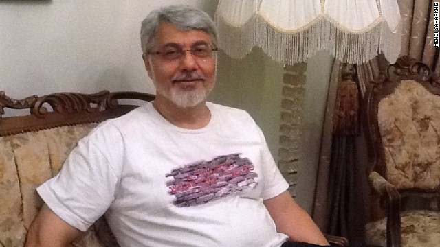 Isa Saharkhiz pictured after his release from prison in Iran in October 2013, following more than four years behind bars.