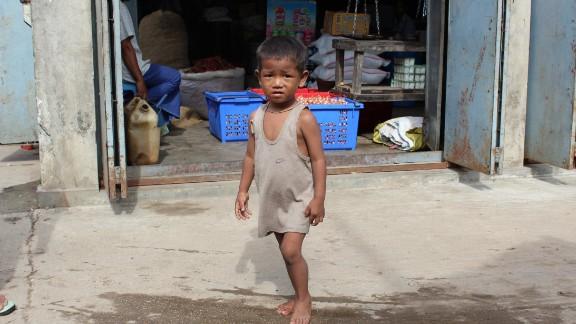 Bogale sits in Myanmar
