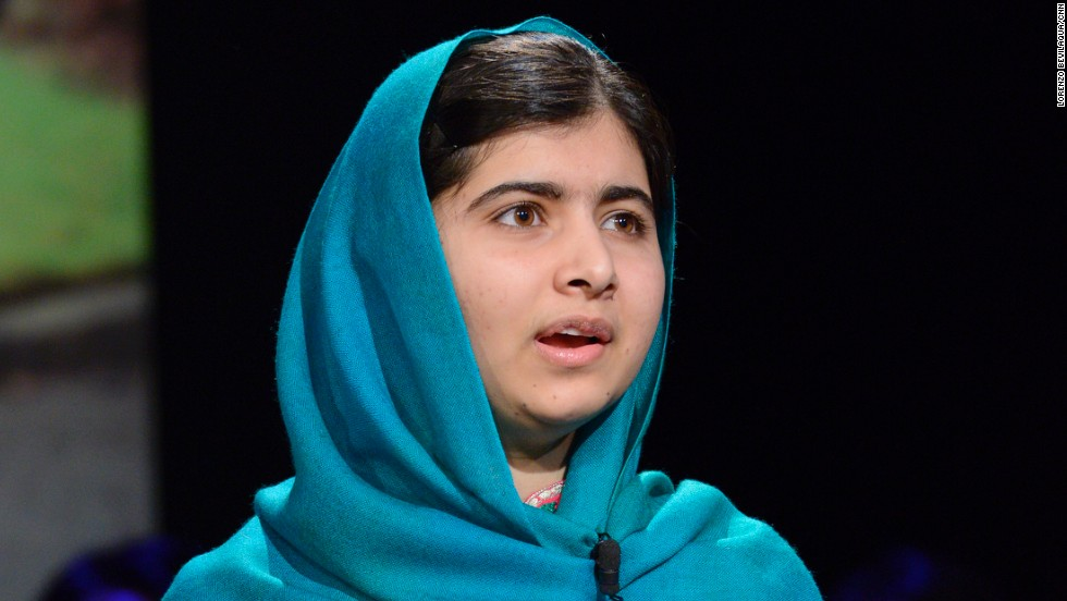 Malala speaks with Amanpour in front of a live town hall audience in New York.