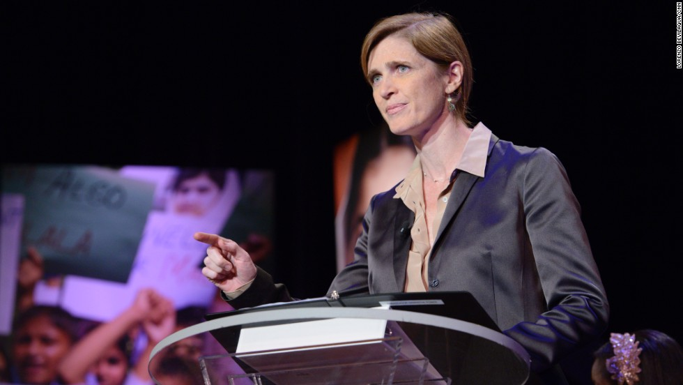 Samantha Power, U.S. Ambassador to the United Nations, speaks.