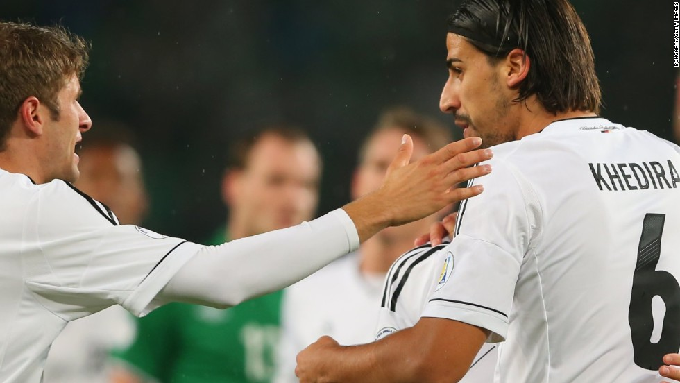 Sami Khedira gave Germany an early lead against the Republic of Ireland as they booked their passage to the 2014 World Cup finals.
