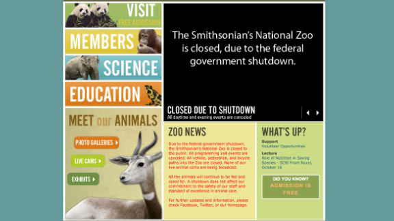 """The Smithsonian's National Zoo website states, """"All the animals will continue to be fed and cared for. A shutdown does not affect our commitment to the safety of our staff and standard of excellence in animal care."""""""